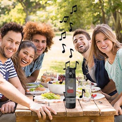 AcquaSound! Garrafa com Speaker Bluetooth