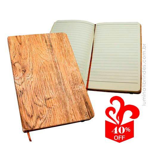 Caderno Design Wood Escritório