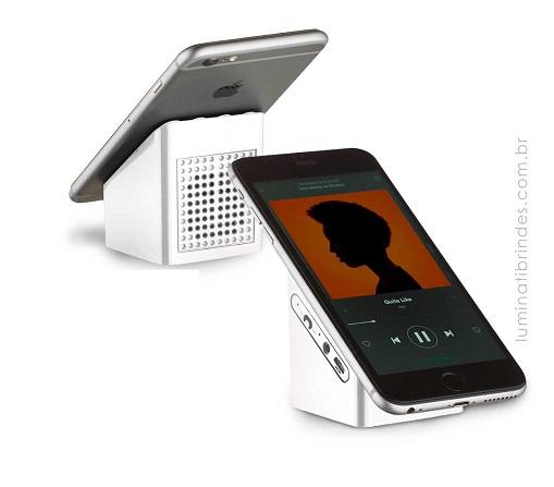 Caixa de som Ventox Bluetooth com suporte celular