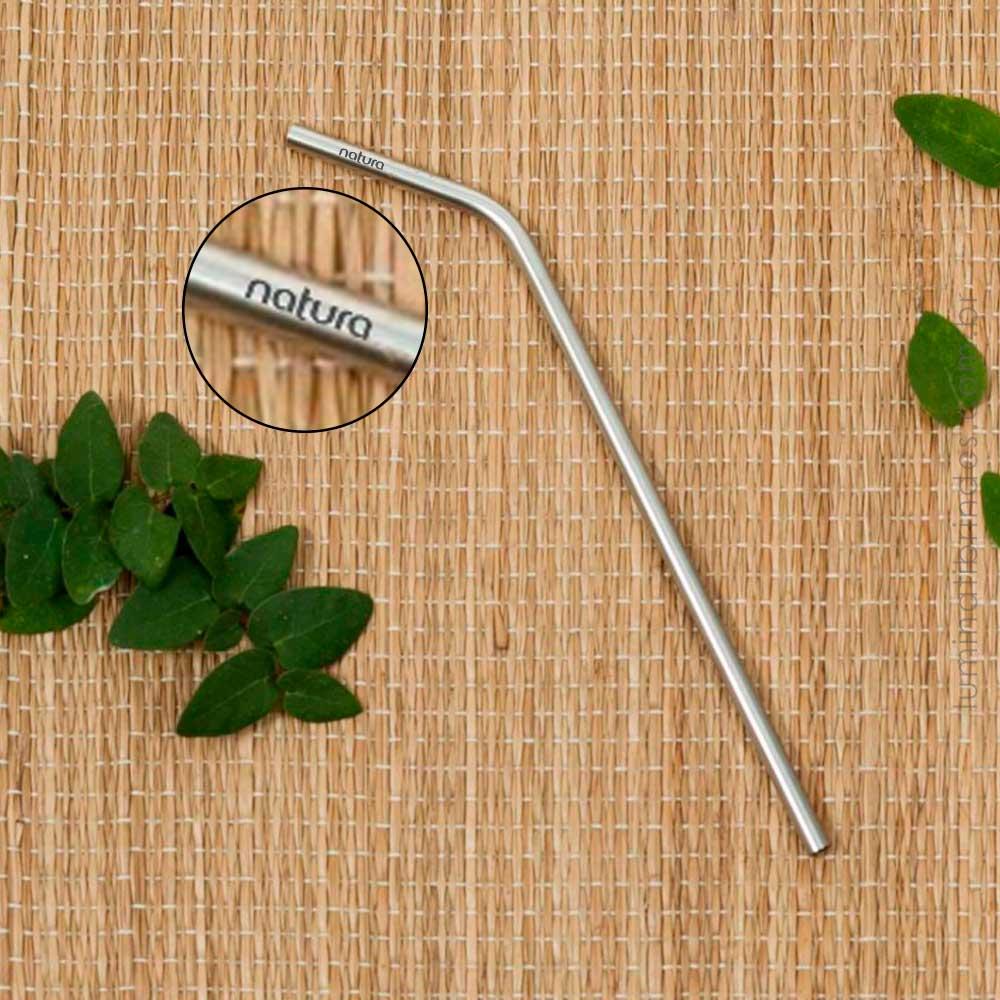 Canudo Inox Sustentável 20cm