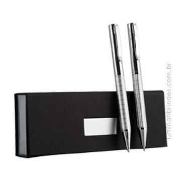Conjunto  caneta e lapiseira personalizada MUNDI