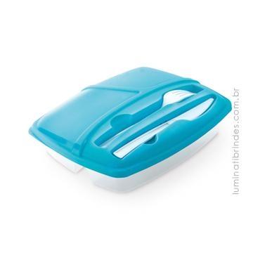 Food Box - Lancheira caixa hermética e talheres