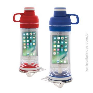 Garrafa Gym - Porta celular