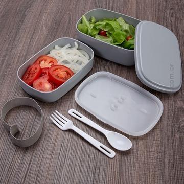 Marmita para almoço com 2 compartimentos