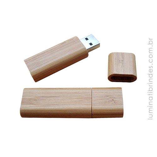 Pen Drive de Madeira Bamboo 8GB
