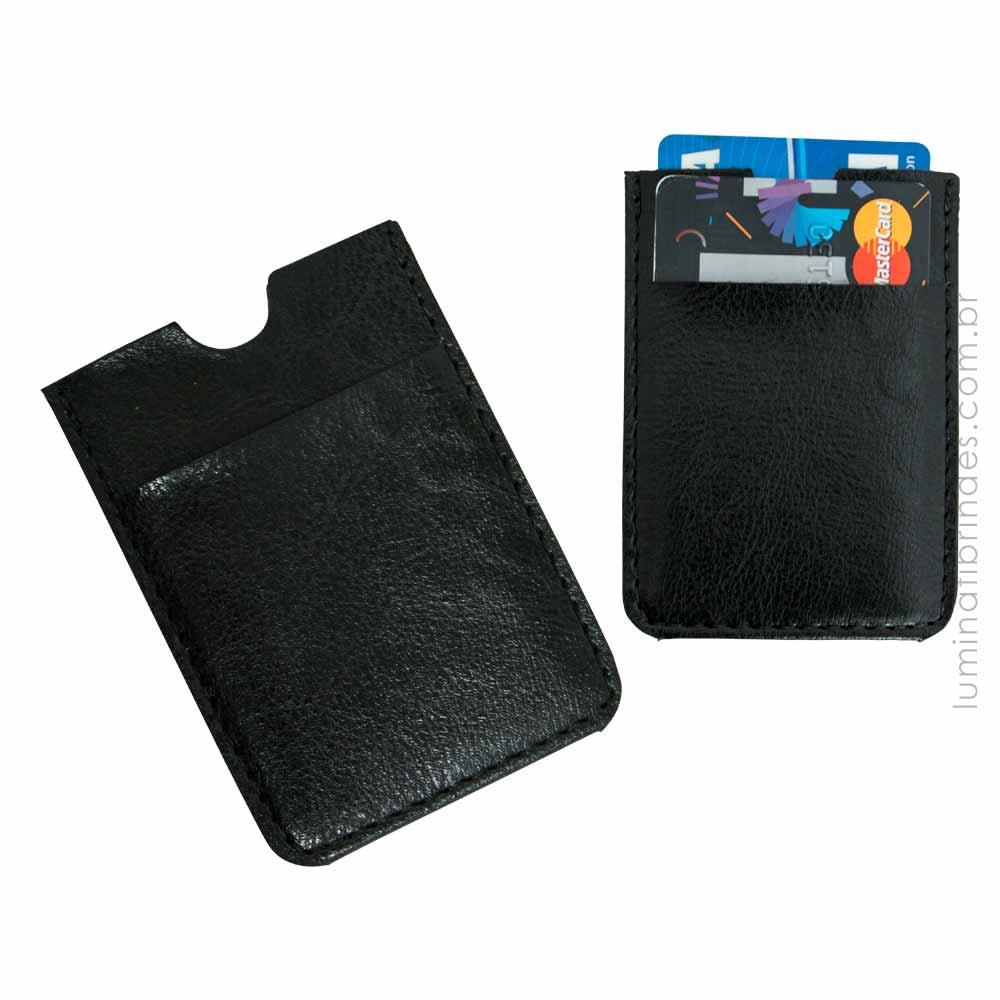 Porta Cartão para Celular Leather