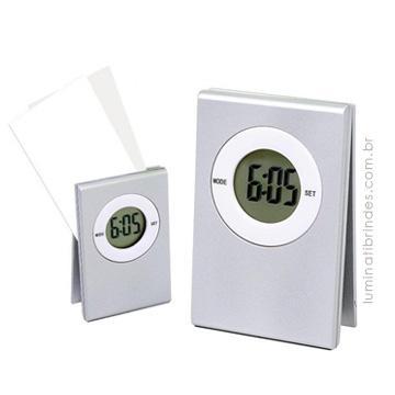 Relógio com porta recado CLIP